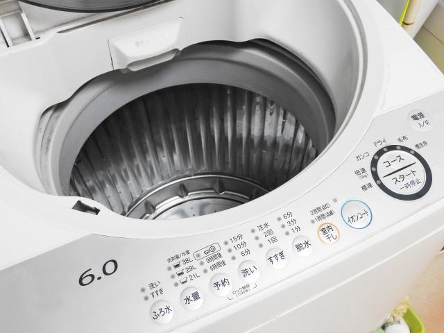 洗濯機も水抜きは欠かせない!