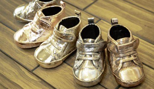 思い出の品と不用品は紙一重?「おもいでメッキファーストシューズ」で靴や首輪をインテリアに